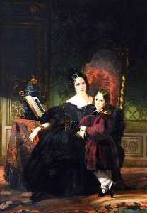 Claude Marie Paul Dubufe - Lady Clifford Constable, with Her Son, Talbot
