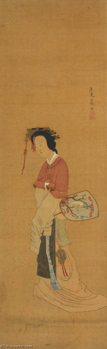 MAIDEN by Chen Hongshou (1598-1652) | Oil Painting | WahooArt.com