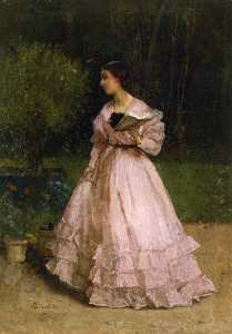 Alfred Émile Léopold Stevens - In the Garden