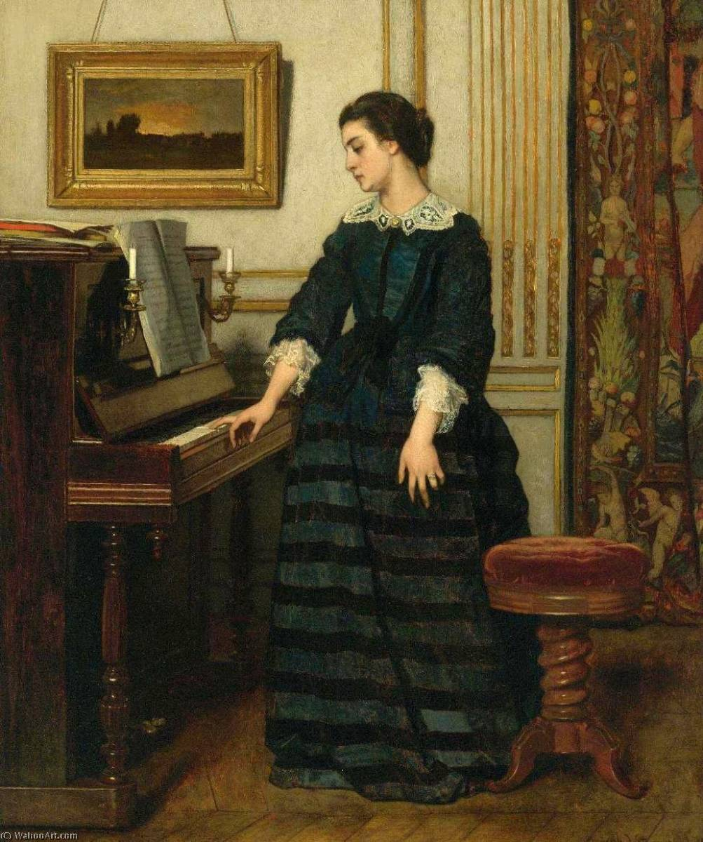 Buy Museum Art Reproductions | L`Absence by Alfred Émile Léopold Stevens (1823-1906) | WahooArt.com