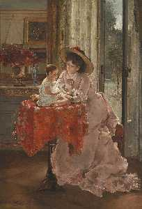 Alfred Émile Léopold Stevens - The Happy Mother
