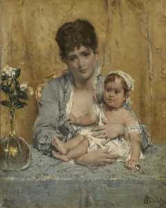 Alfred Émile Léopold Stevens - Mother and Child