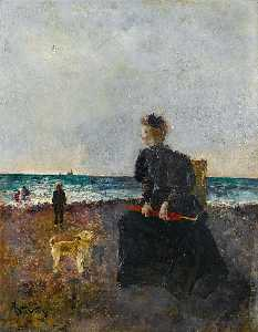 Alfred Émile Léopold Stevens - Lady on the Beach
