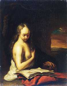 Frans Van Mieris The Elder - Mary Magdalen Penitent