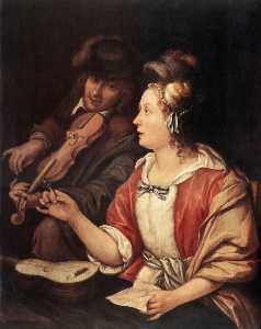 Frans Van Mieris The Elder - The Music Lesson