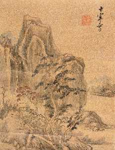 Dong Qichang - AUTUMN MOUNTAIN WITH RED TREES