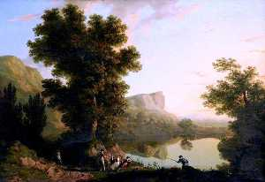 George Barret The Elder - Landscape with a Lake