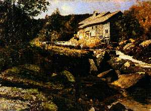 Carl Schuch - Mill near Saut du Doubs (I. version)