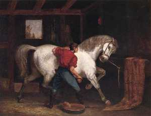 Edward Mitchell Bannister - Governor Sprague's White Horse