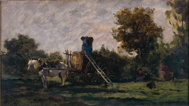 Les Vendanges, 1865 by Charles François Daubigny (1817-1878, France) | Painting Copy | WahooArt.com