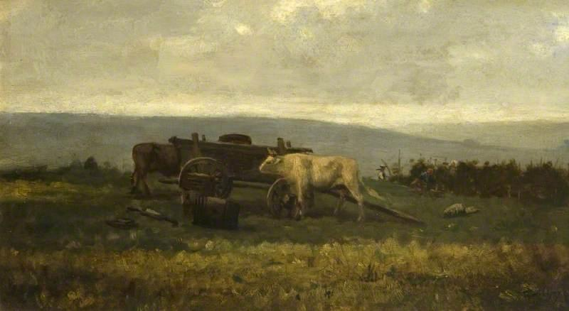 Landscape with Cattle, Oil On Panel by Charles François Daubigny (1817-1878, France)
