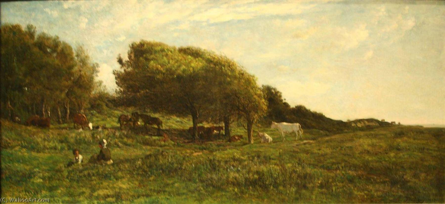 Les Graves à Villerville, 1859 by Charles François Daubigny (1817-1878, France) | Famous Paintings Reproductions | WahooArt.com