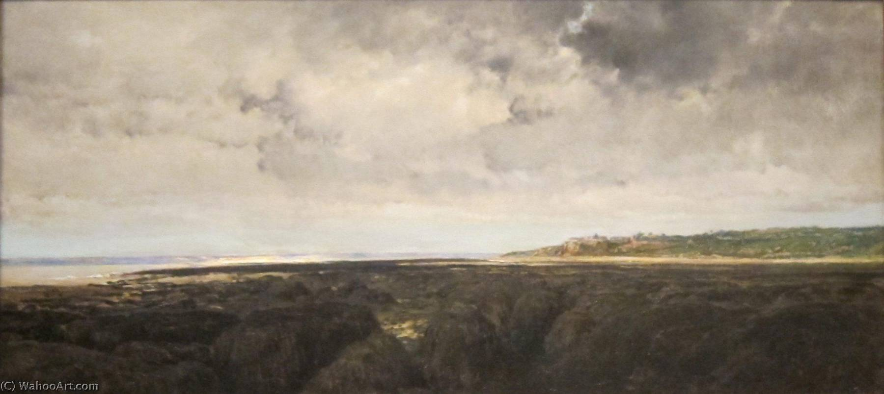 English Villerville seen from Le Ratier, Oil by Charles François Daubigny (1817-1878, France)