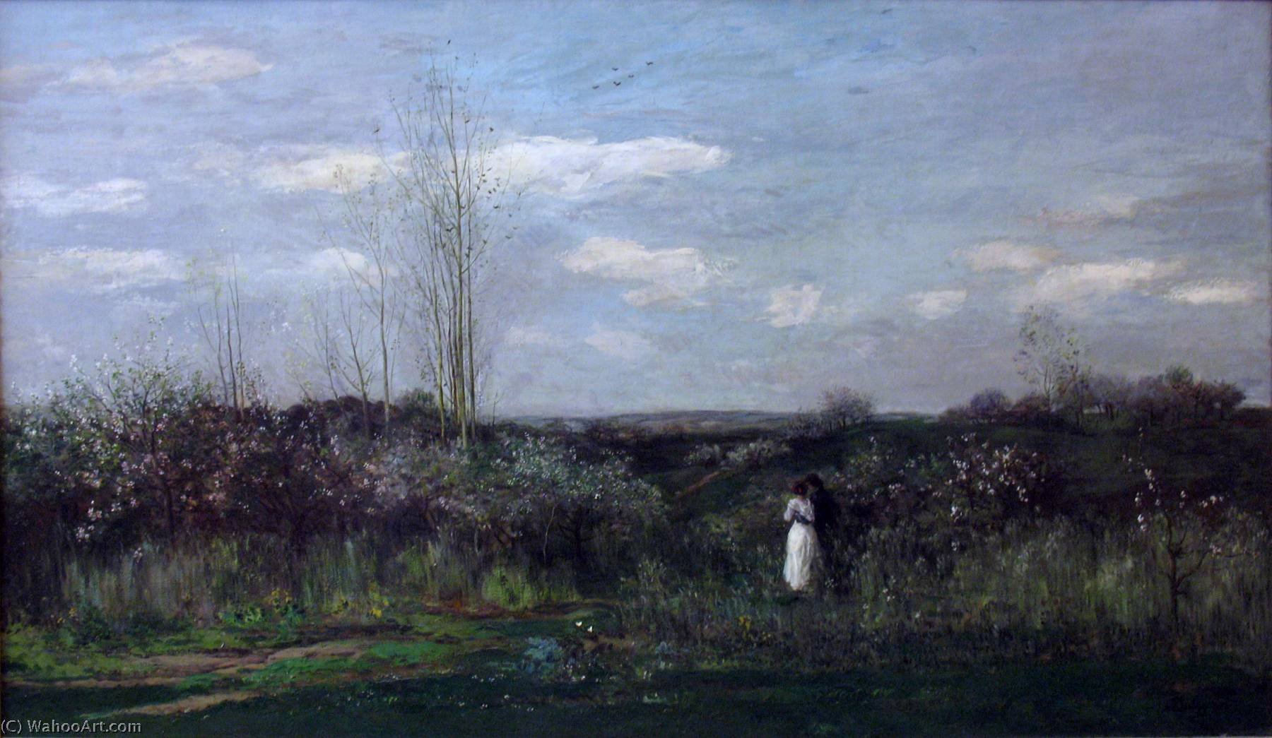 Spring Landscape, Painting by Charles François Daubigny (1817-1878, France)