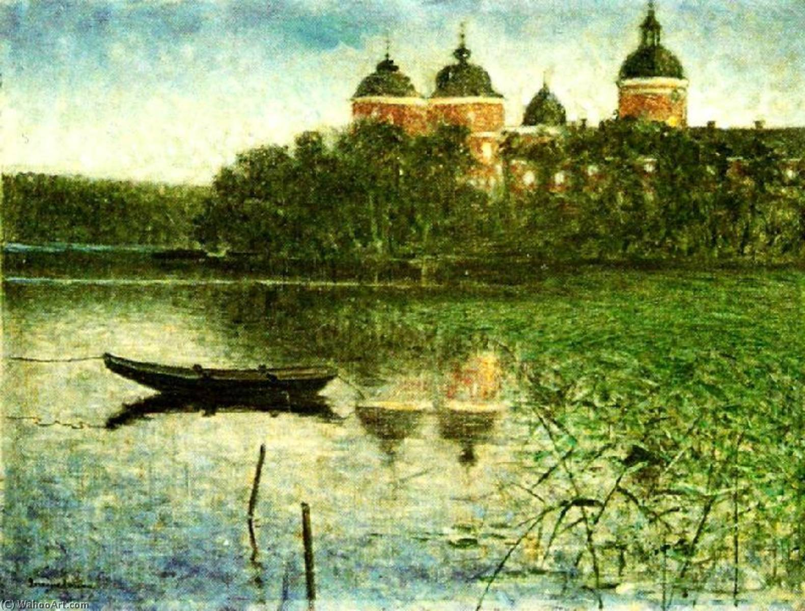 Order Painting Copy : Gripsholm castle, 1881 by Eugene Jansson (1862-1915) | WahooArt.com