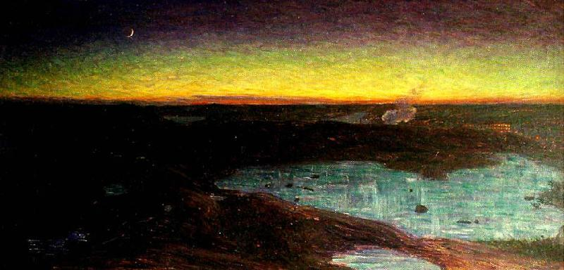 Order Famous Paintings Reproductions : Late March Evening in Tanto Mountains, 1894 by Eugene Jansson (1862-1915) | WahooArt.com