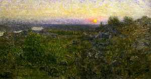 Order Art Reproduction : Dusk in the Mountains, 1893 by Eugene Jansson (1862-1915) | WahooArt.com