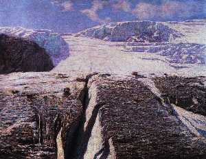 Order Oil Painting : The Glacier, 1906 by Emilio Longoni (1859-1932) | WahooArt.com