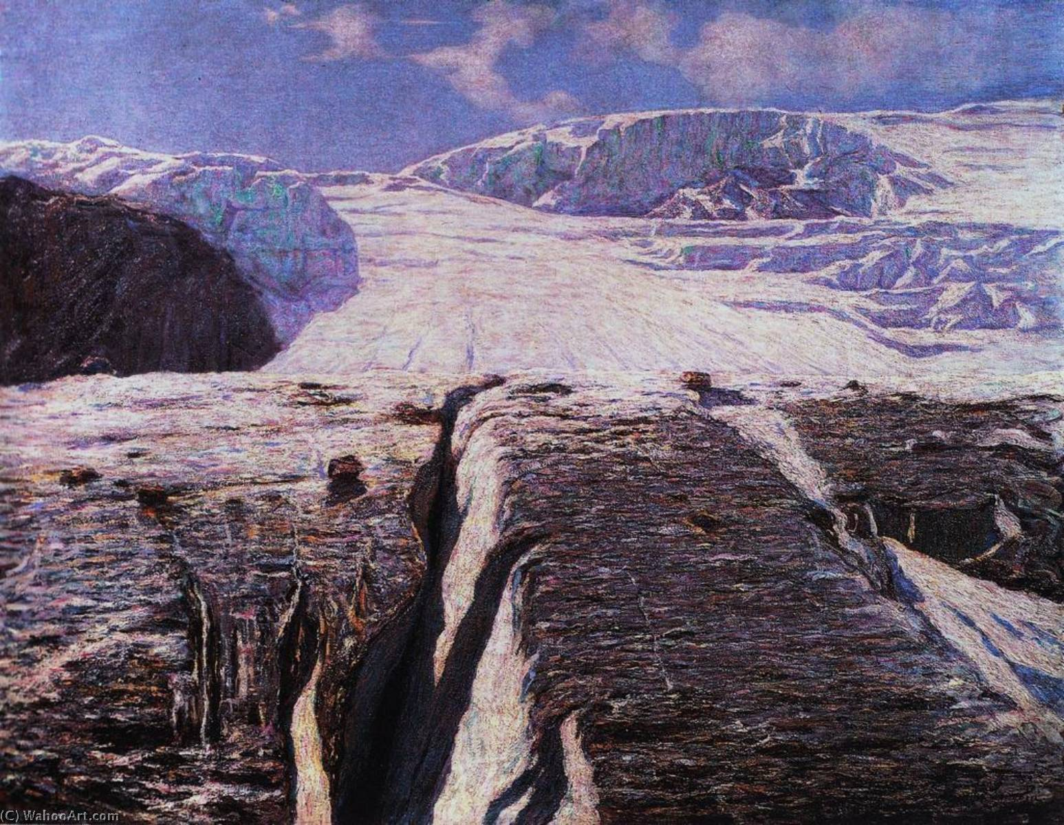 The Glacier, Oil On Canvas by Emilio Longoni (1859-1932)