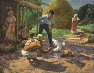 Fernando Cueto Amorsolo - Sabong (Cockfighting)