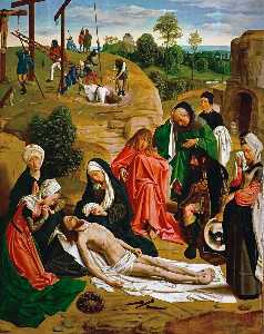 Order Famous Paintings Reproductions : Lamentation over the Dead Christ, 1484 by Geertgen Tot Sint Jans (1460-1490, Netherlands) | WahooArt.com