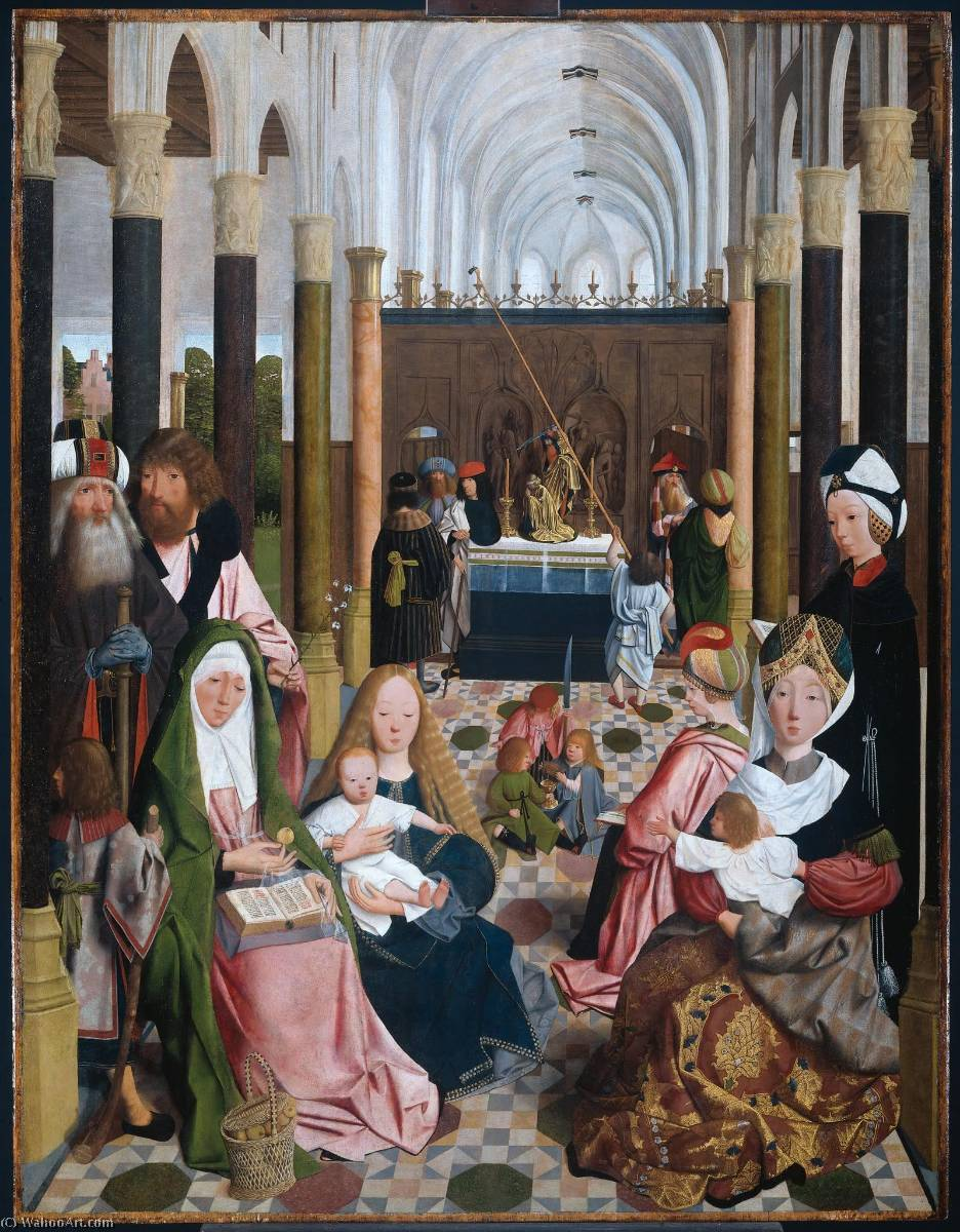 The Holy Kinship, Oil On Panel by Geertgen Tot Sint Jans (1460-1490, Netherlands)