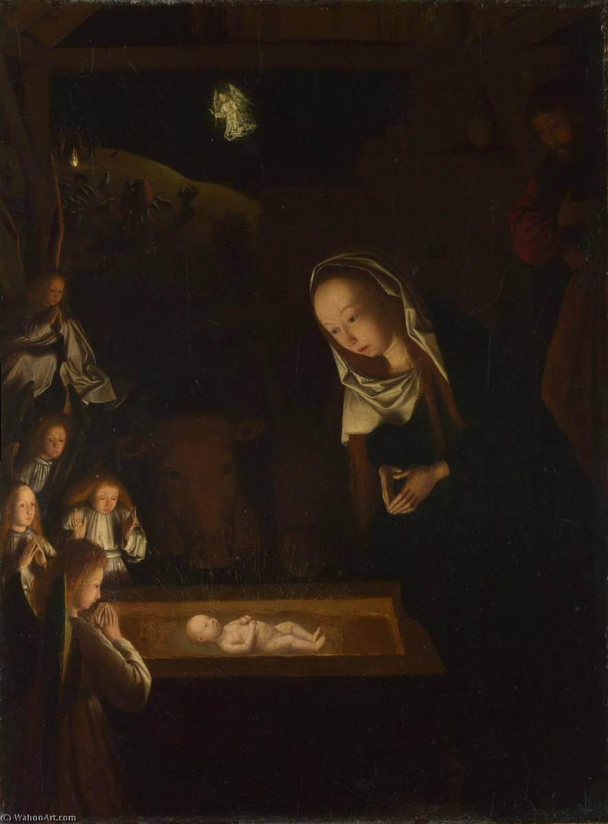 The Nativity at Night, Oil On Panel by Geertgen Tot Sint Jans (1460-1490, Netherlands)