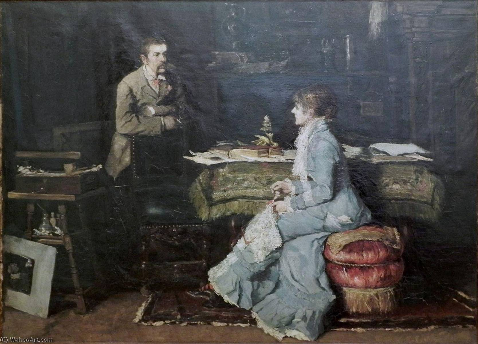 In the Studio, 1881 by Fritz Von Uhde (1848-1911)