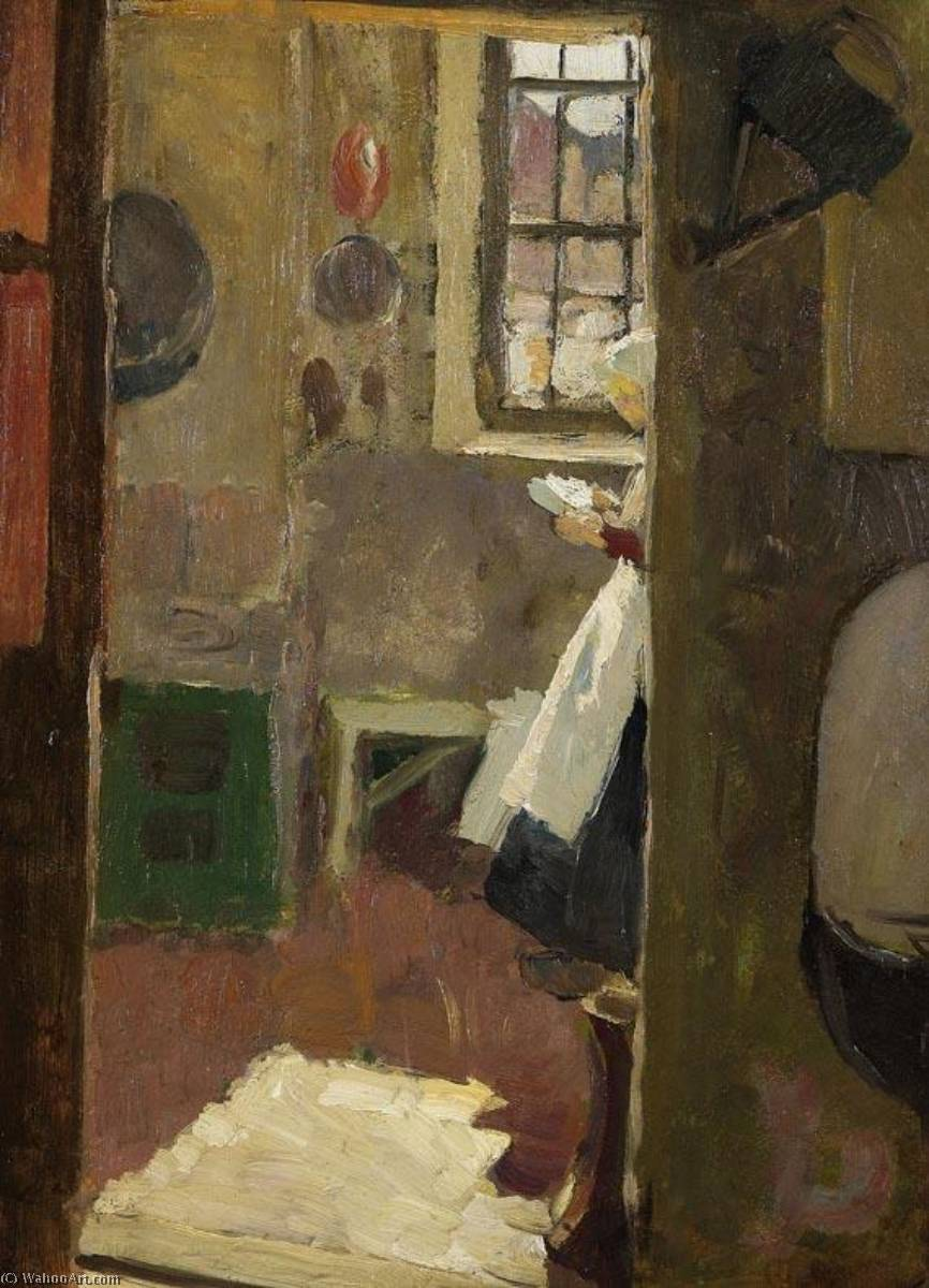 Kitchen Interior by Fritz Von Uhde (1848-1911) | Painting Copy | WahooArt.com