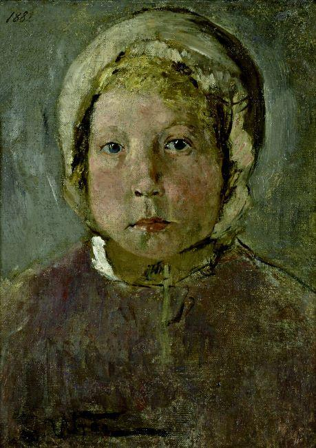 Head of a Girl, 1882 by Fritz Von Uhde (1848-1911)