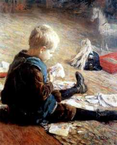Fritz Von Uhde - Boy playing