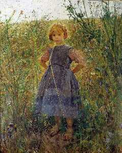 Fritz Von Uhde - Little Heathland Princess