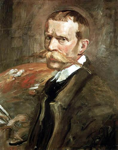 Self portrait, Oil On Canvas by Fritz Von Uhde (1848-1911)