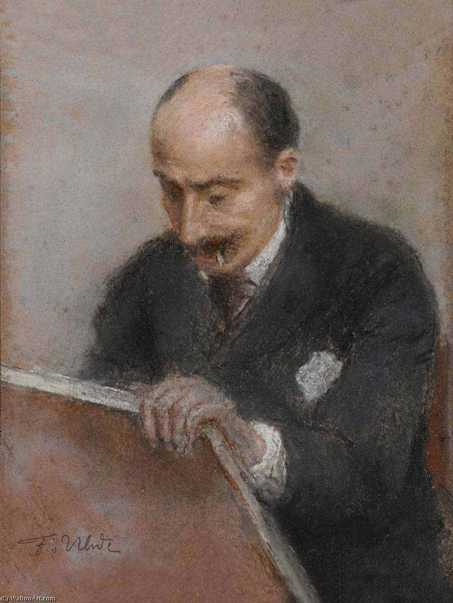 Portrait of Max Liebermann, 1892 by Fritz Von Uhde (1848-1911) | Museum Quality Reproductions | WahooArt.com