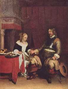 Gerard Ter Borch The Younger - The Gallant Soldier
