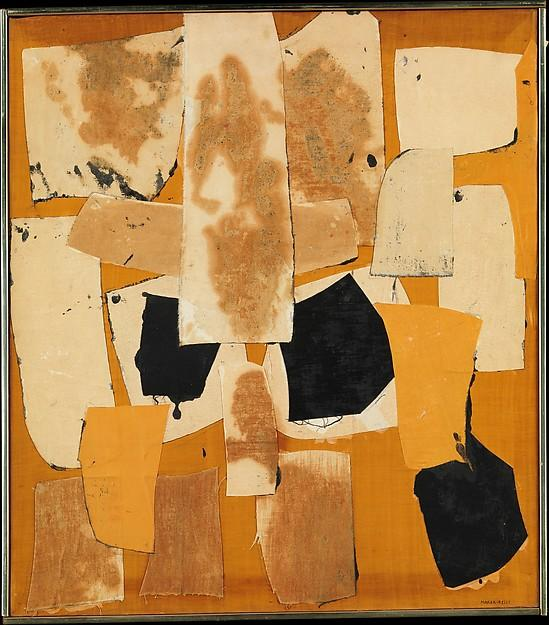 Yellow Collage, Collage by Conrad Marca Relli (1913-2000, United States)