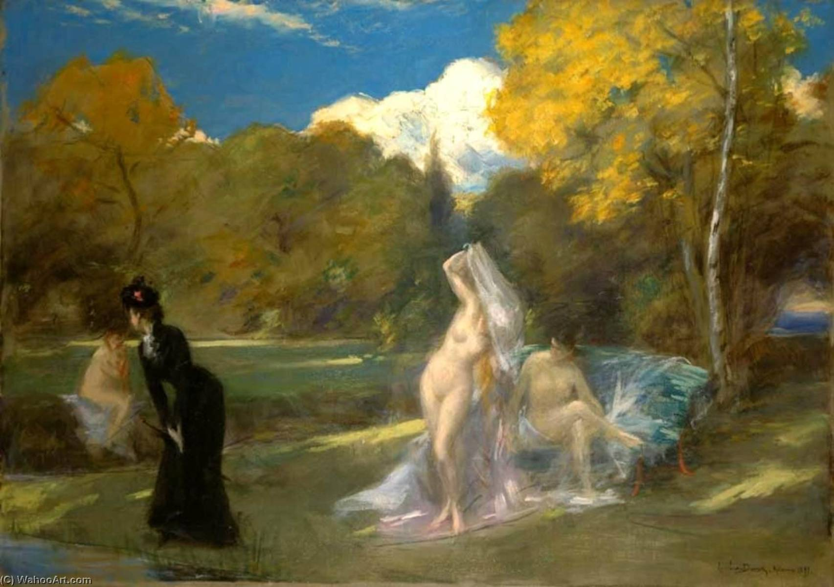 Order Paintings Reproductions | After the Swimming, 1899 by Carolus-Duran (Charles-Auguste-Emile Durand) | WahooArt.com