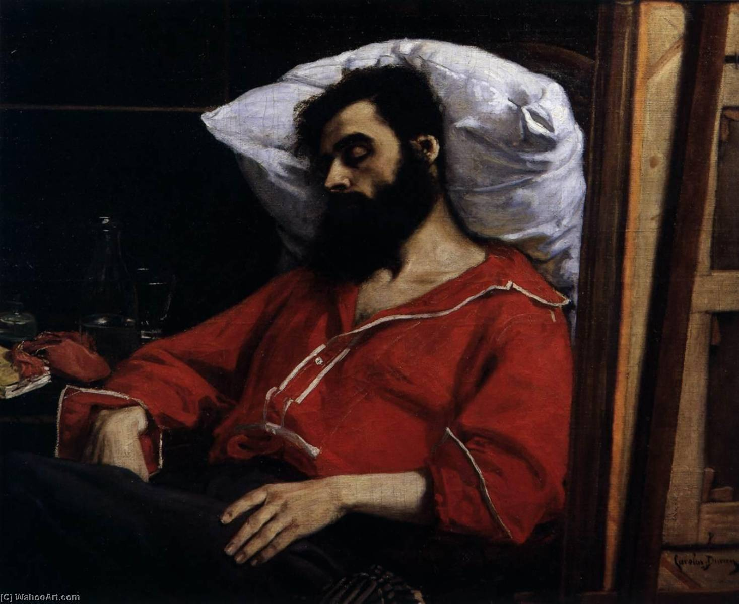 The Convalescent or The Casualty, 1860 by Carolus-Duran (Charles-Auguste-Emile Durand) | Art Reproductions Carolus-Duran (Charles-Auguste-Emile Durand) | WahooArt.com