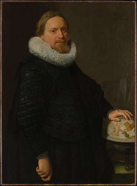 Man with a Celestial Globe, 1624 by Nicolaes Eliasz Pickenoy (1588-1650, Netherlands) | Art Reproductions Nicolaes Eliasz Pickenoy | WahooArt.com
