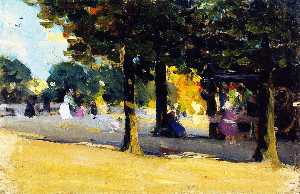 Clarence Alphonse Gagnon - Luxembourg Gardens. Paris