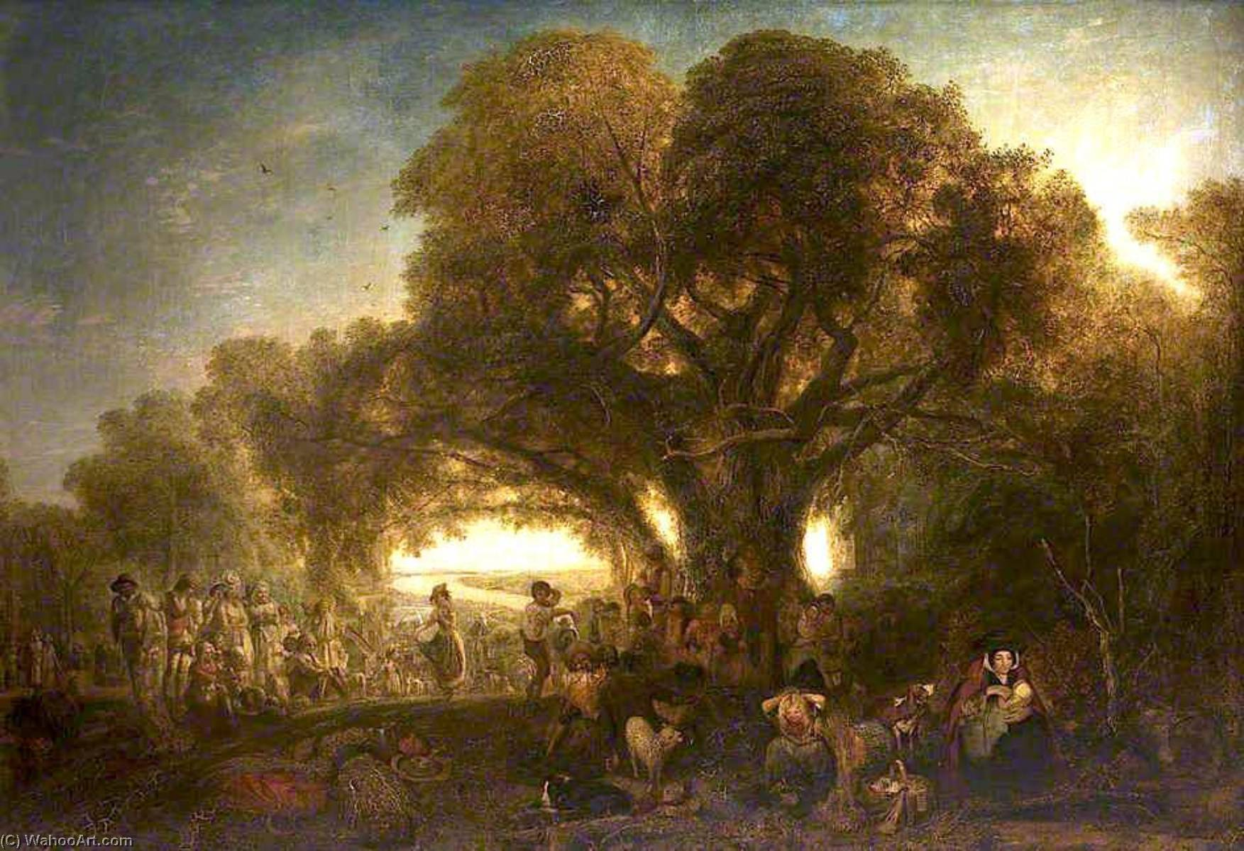The Harvest Festival, Oil On Canvas by Henry Mark Anthony (1817-1886)