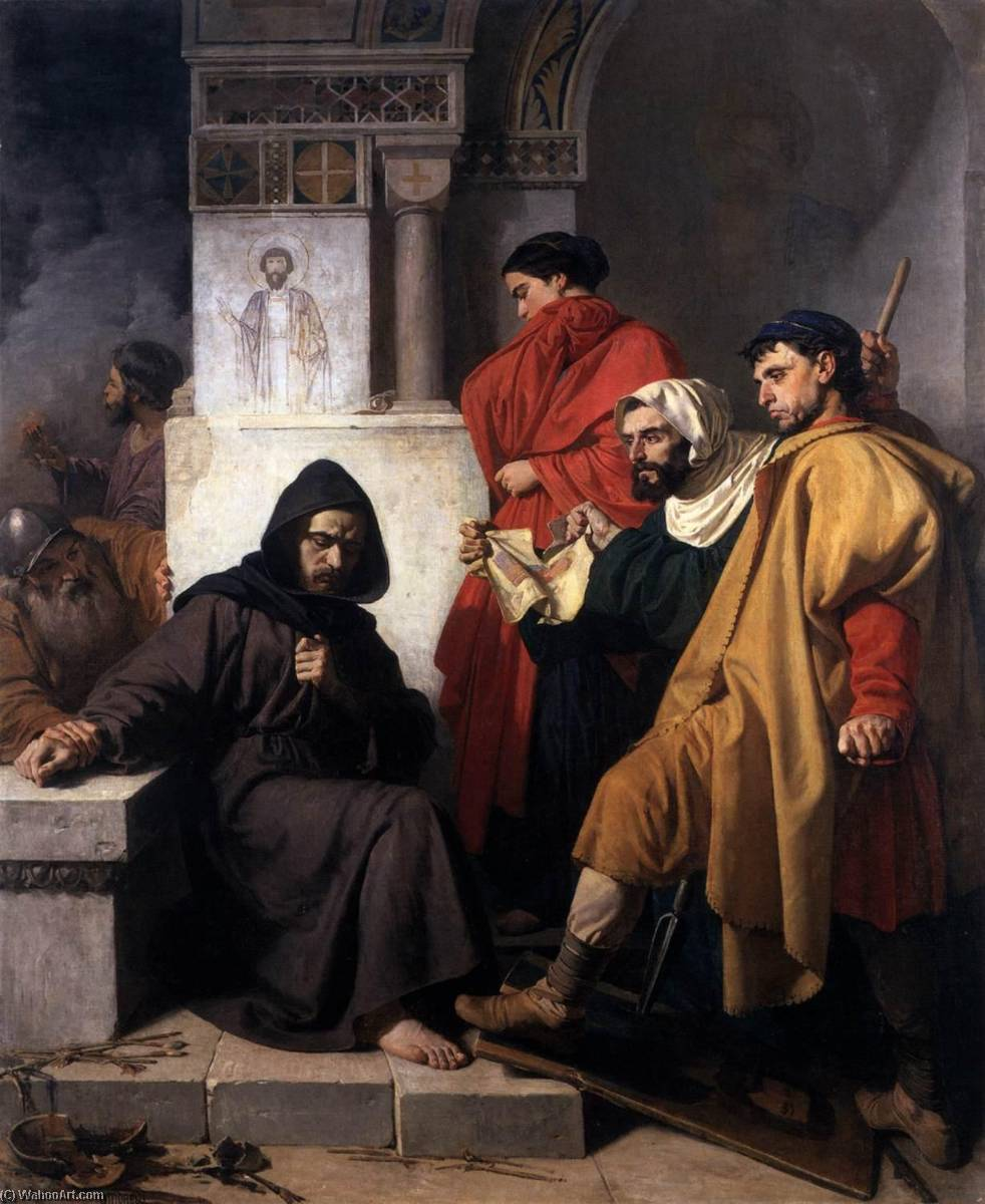 The Iconoclasts, Oil On Canvas by Domenico Morelli (1826-1901)