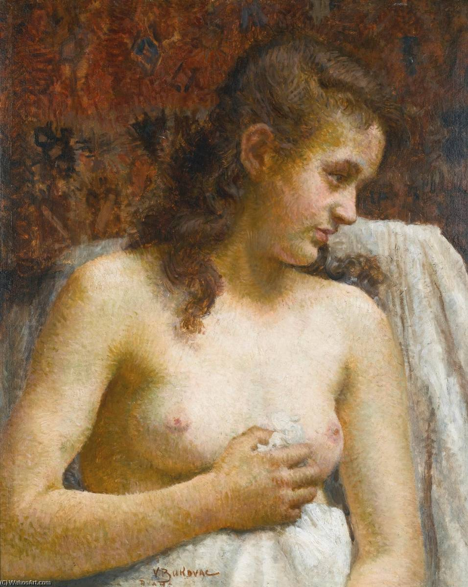 In the Boudoir by Vlaho Bukovac (1855-1922, Croatia) | Museum Quality Reproductions | WahooArt.com