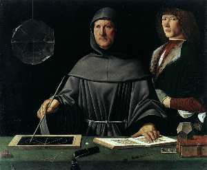 Jacopo Barbari - Portrait of Fra Luca Pacioli and an Unknown Young Man