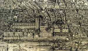 Jacopo Barbari - Perspective plan of Venice (detail)