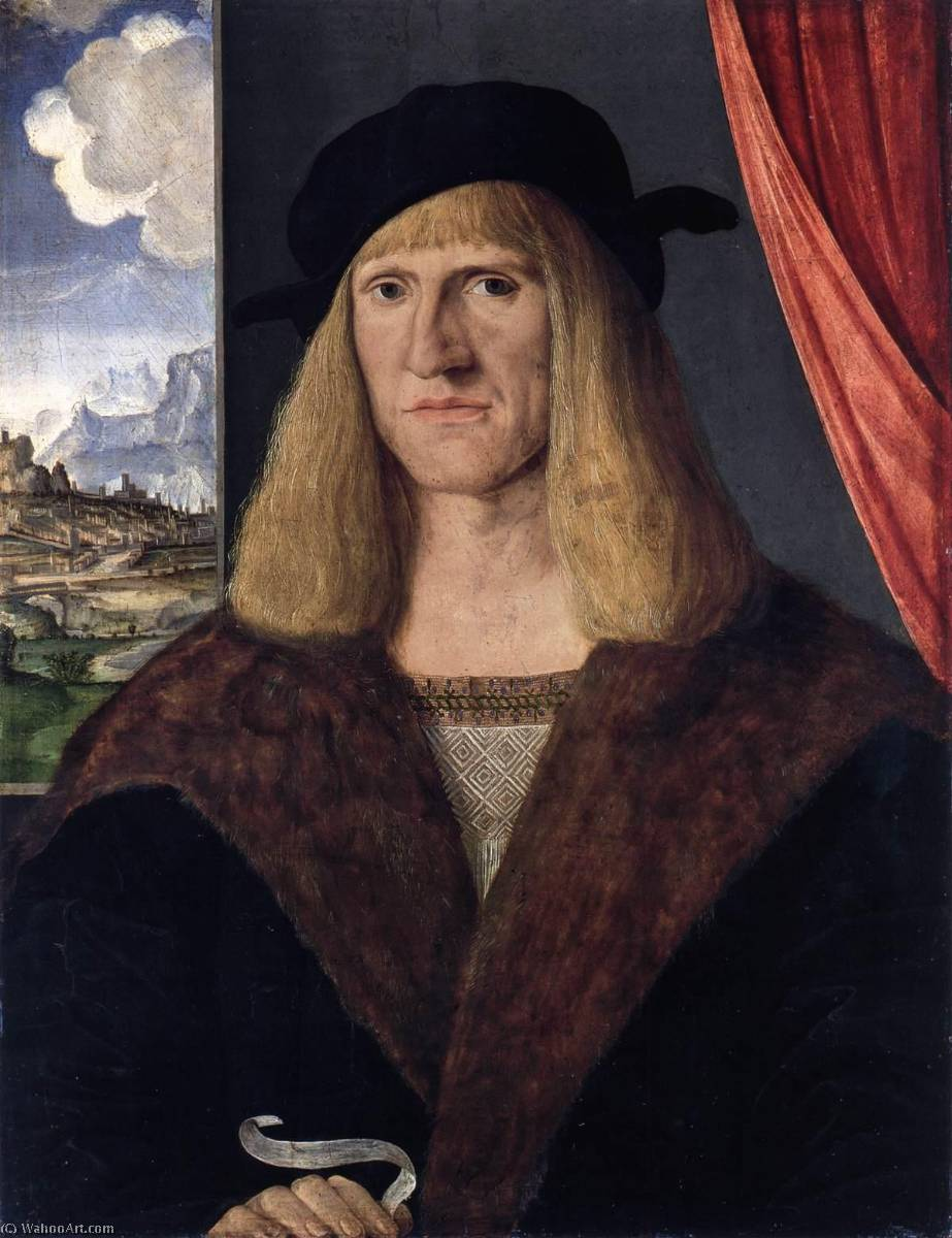 Portrait of a Man, Oil On Panel by Jacopo Barbari (1460-1516)