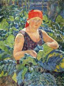 Ilya Ivanovich Mashkov - Girl on the tobacco plantation