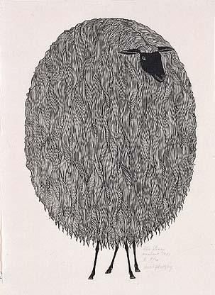 Order Reproductions | The Sheep, 1961 by Jacques Hnizdovsky (1915-1985, Ukraine) | WahooArt.com