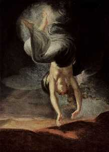 Henry Fuseli (Johann Heinrich Füssli) - The fairy queen Titania finds the magic ring on the beach