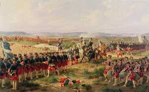 Henri Félix Emmanuel Philippoteaux - French Bataille de Fontenoy Lord Charles Hay et Comte d'Enteroches Messieurs les anglais tirez les premiers The Battle of Fontenoy, 1745 The French and the Allies Confronting Each Other